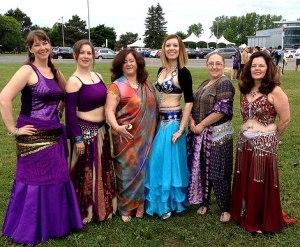 Halyma, Eurika, Siddiqah, Laksha, Madhumaki, Wendy at Emilie's Run