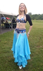 Laksha - Bollywood For Fun performer, beautiful in blue