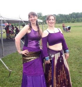 Halyma and Eurika, Emilies Run..Purple Divas