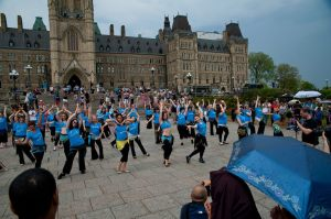 Shimmy Mob at Parliament Hill