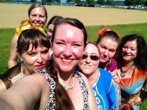 Bollywood For Fun troupe at Kites For Cancer event...selfie by Halyma